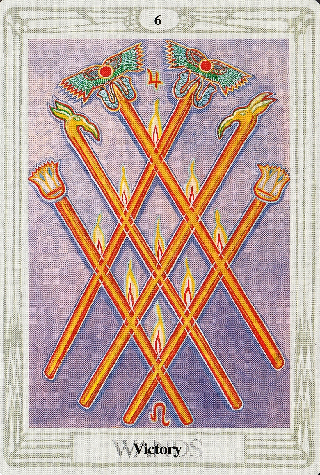3 Home Decor Trends For Spring Brittany Stager: Six Of Wands Thoth Tarot Card