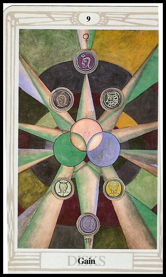 Thoth Fortune Tarot Card Tutorial: Knight Of Disks Thoth Tarot Card Tutorial