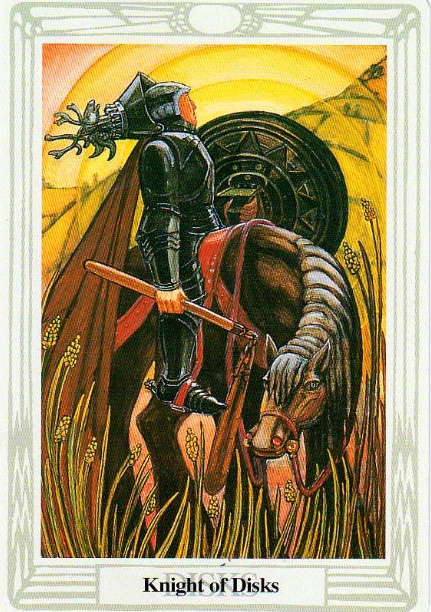 Knight of Disks Thoth Tarot Card Tutorial - Esoteric Meanings