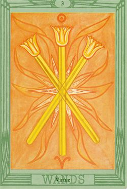 Three Of Wands Thoth Tarot Card Tutorial Esoteric Meanings