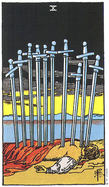 Ten of Swords Thoth Tarot Card Tutorial - Esoteric Meanings