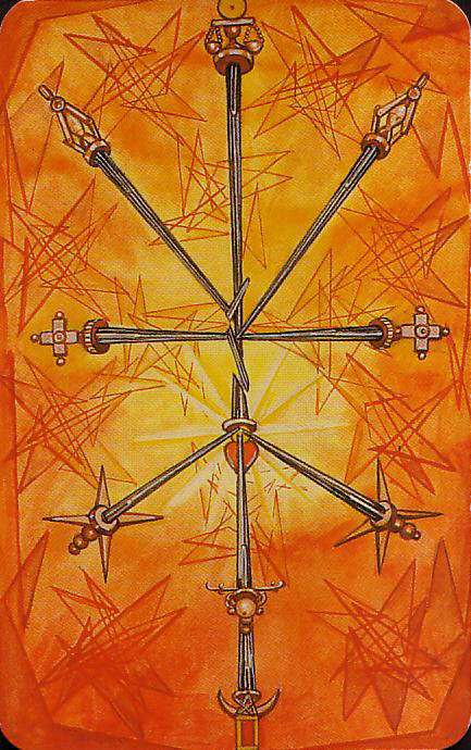 Ten Of Swords Thoth Tarot Card Tutorial Esoteric Meanings