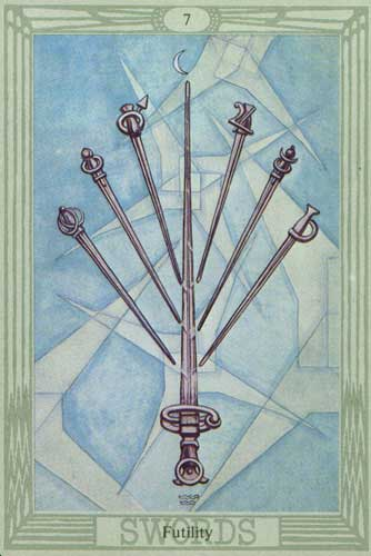 Seven Of Swords Thoth Tarot Card Tutorial Esoteric Meanings