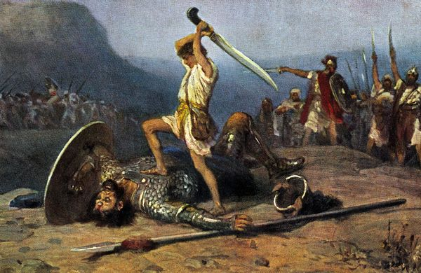 an analysis of the symbolism in the old testament story of goliath and david Chapter 28: david and goliath-old testament stories there was a war in the land of israel king saul and the israelites were fighting the philistines.