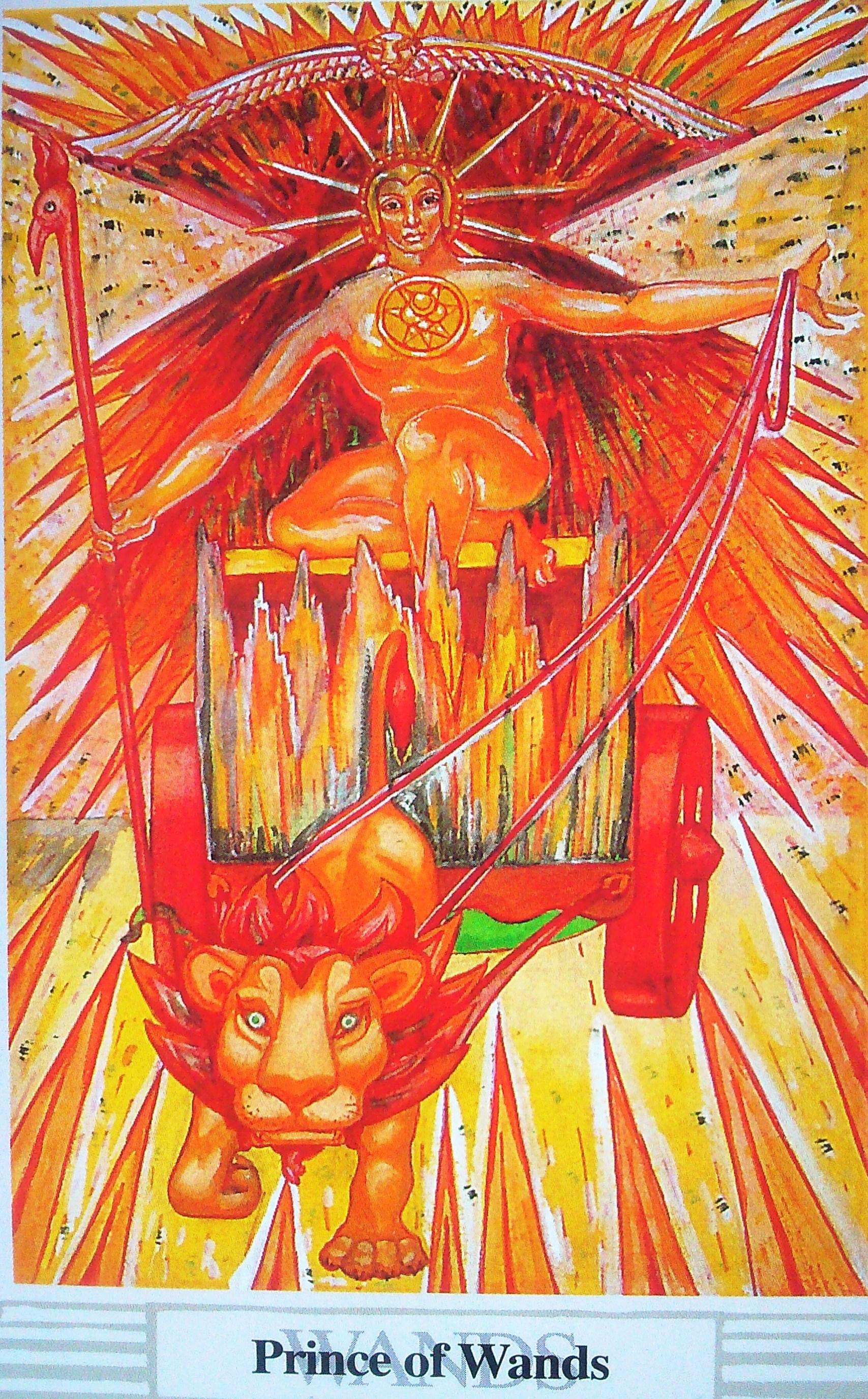 Prince Wand: Prince Of Wands Thoth Tarot Card Tutorial