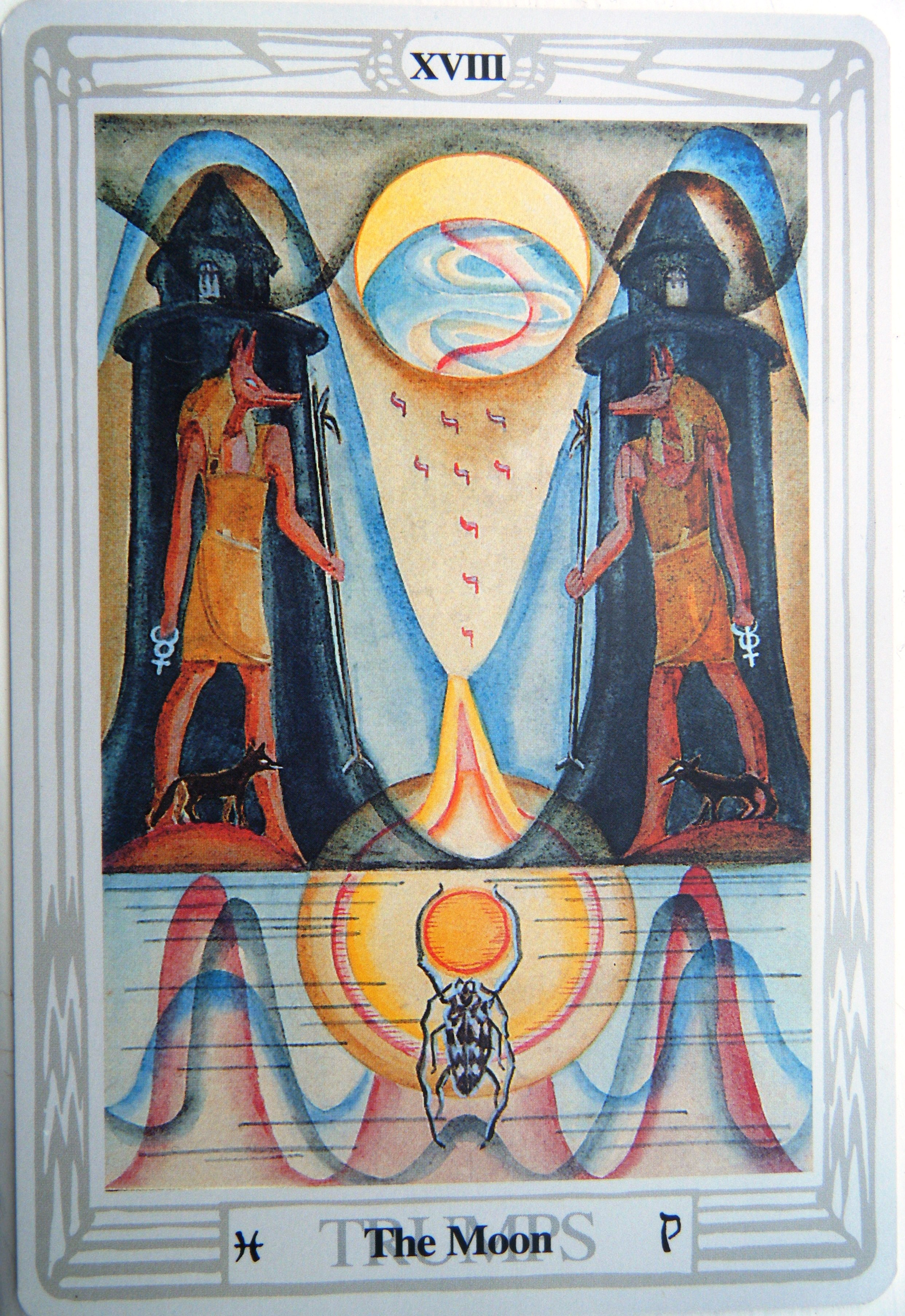 Thoth Moon Tarot Card Tutorial - Esoteric Meanings
